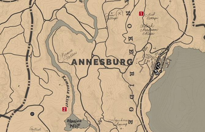 走り書きの地図の入手場所のマップ