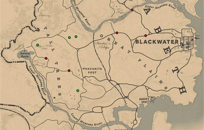 スキナーブラザーズの出現場所マップ