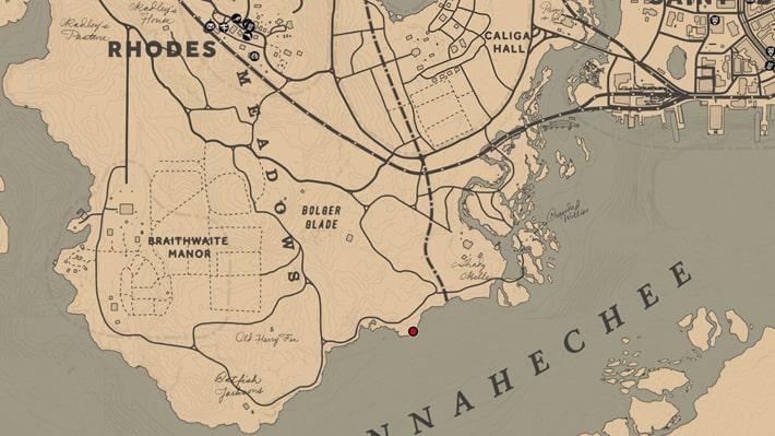 奴隷の死体の場所のマップ