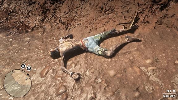川辺で亡くなっている奴隷の死体の画像