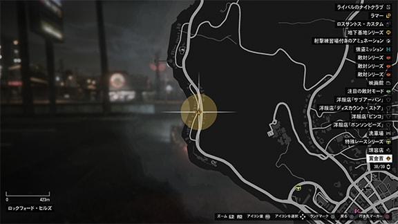 賞金首ミッションの発生場所の画像