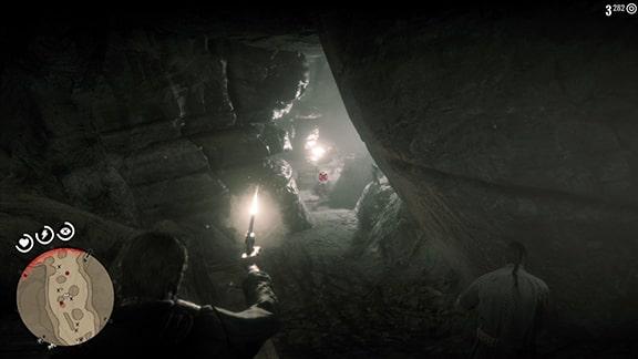 洞窟内でマーフリーと戦うシーン