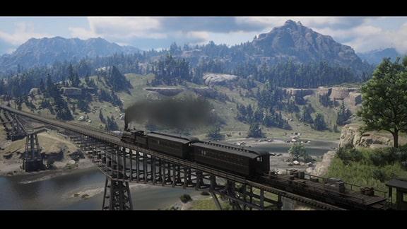 列車を運転するシーン