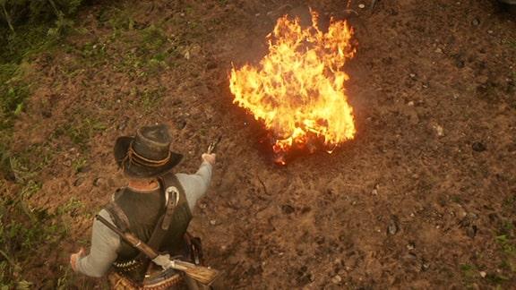 ジェレマイアが燃えるシーン