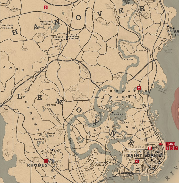 知識の報いの発生場所のマップ