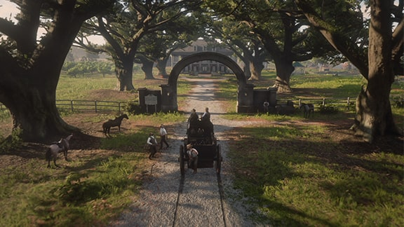 ブレイスウェイト荘園の入り口の様子