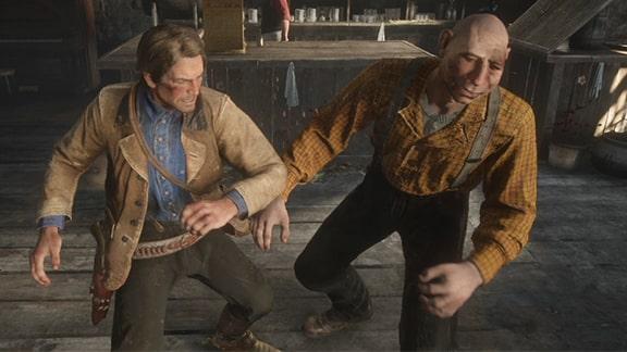 アーサーとバートラムが戦っているシーン
