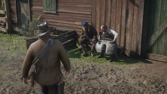 ミッションを開始できるホゼアがいるエメラルド牧場