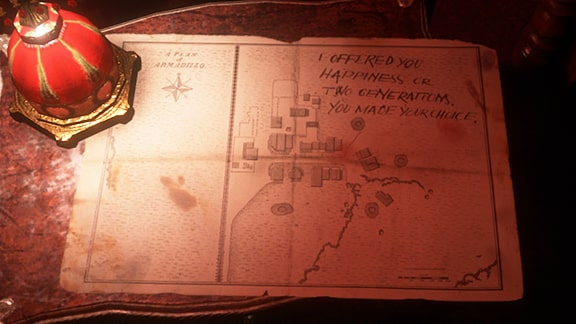小屋にあるアルマジロの地図