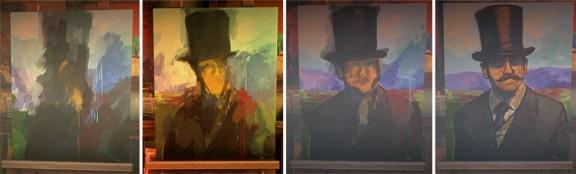 謎の男の肖像画