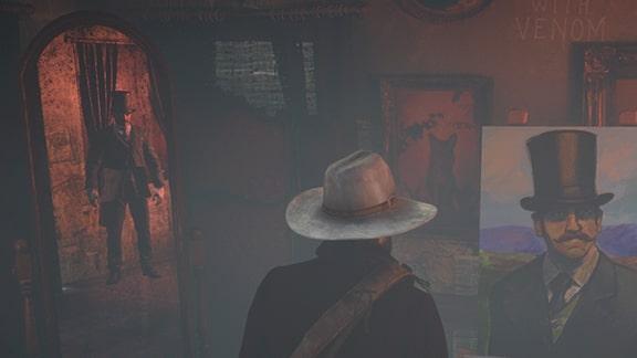 鏡に映る謎の男