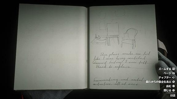 謎の男について更新される日記の画像