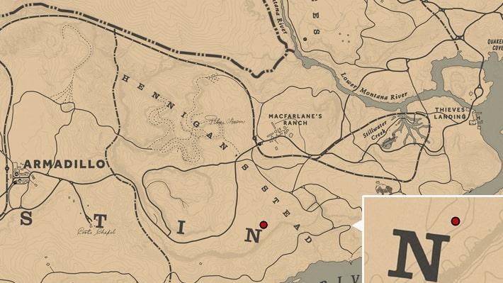 木の家に住む奇妙な男の場所のマップ
