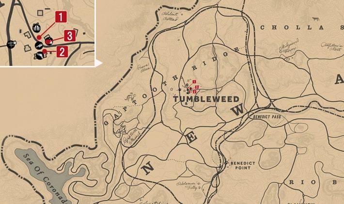 タンブルウィード保安官の居場所マップ
