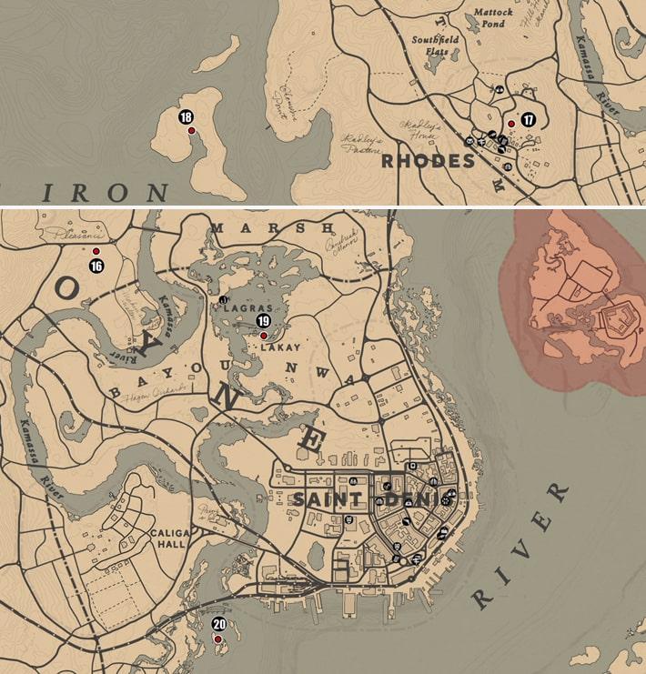 ルモワン州にあるユニークコレクションにあるユニークコレクションのマップ