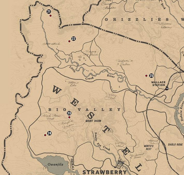 ウェストエリザベス州にあるユニークコレクションのマップ