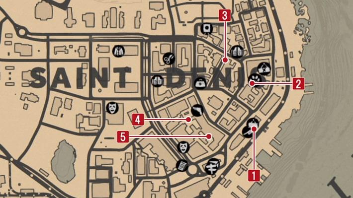 ヴァンパイアの手掛かりを見つける謎めいたメモの発見場所のマップ