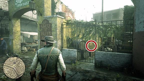 Map2の罠師近くにある謎めいたメモの場所画像