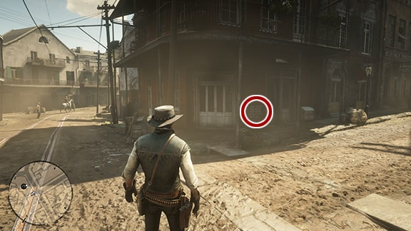 Map3の酒場手前にある謎めいたメモの場所画像