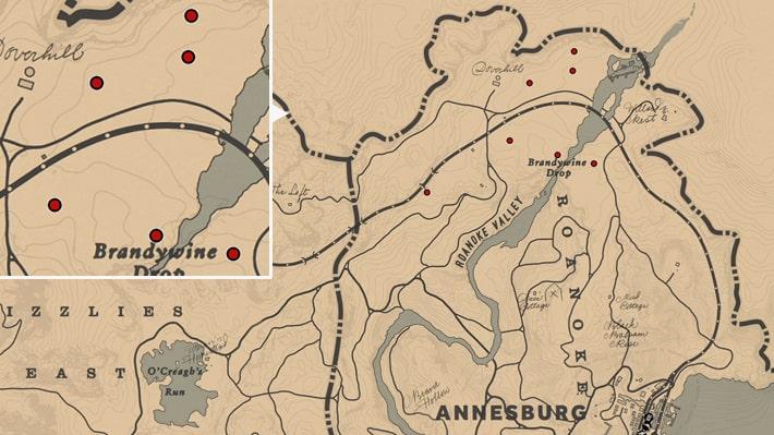 ヴァイオレットスノードロップの入手場所のマップ