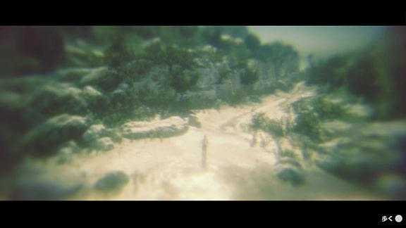 アーサーが新しいエリアに到着したカットシーン画像