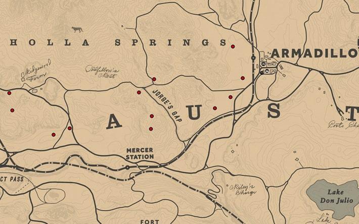ワイルドフィーバーフューの入手場所のマップ