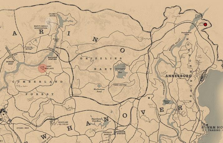 Willard's Restのマップ