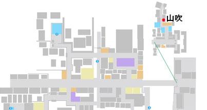 揚屋・山吹の場所のマップ