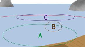 沖釣り(東沖)のマップ