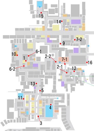 お尋ね者の居場所のマップ