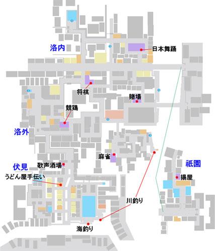 プレイスポットのマップ