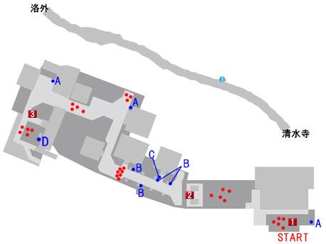 清水寺のマップ