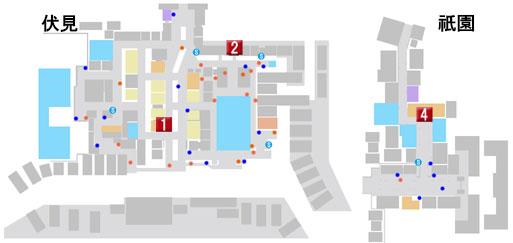 第九章 喧嘩の花道のマップ