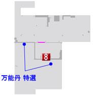 最終章の高知城のマップ
