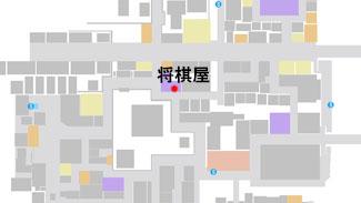 将棋屋の場所のマップ