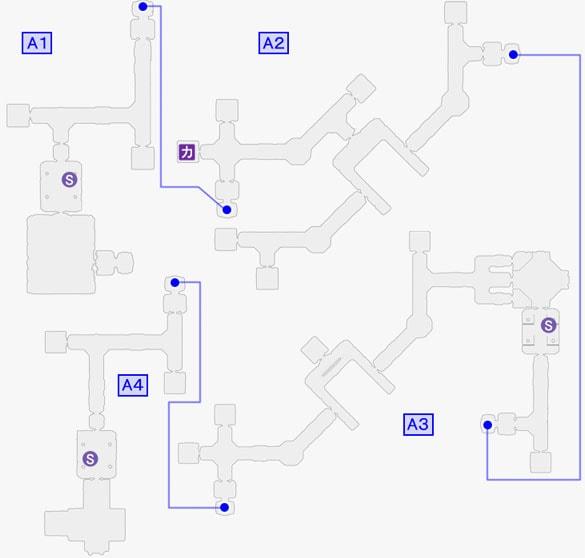 フォートレス・オブ・トライドールで出現するカテドラルのマップ