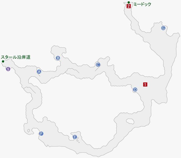 スターオーシャン5:ミノーズ海岸のマップ