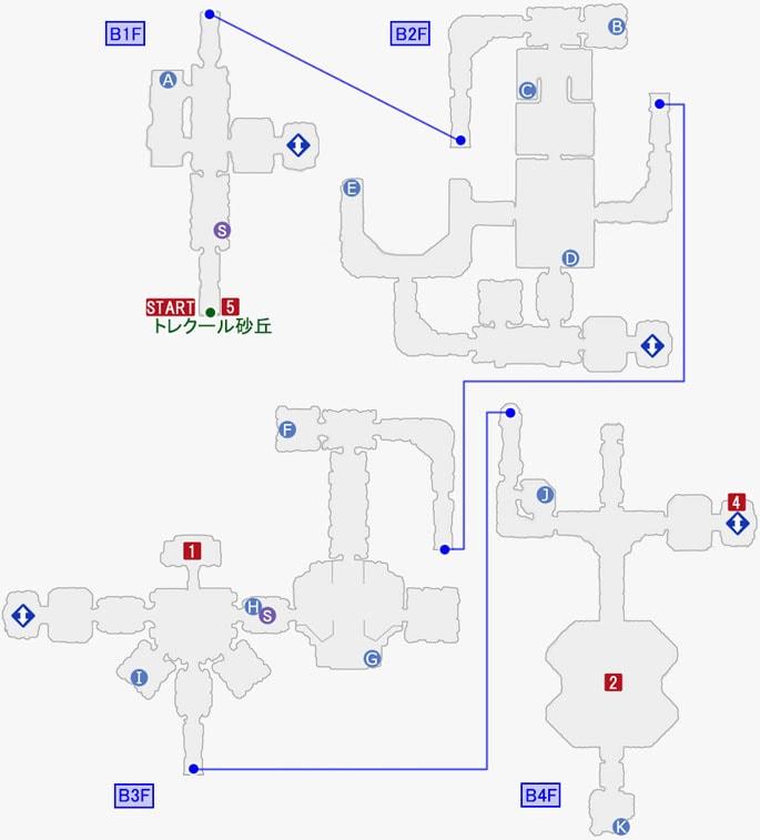 スターオーシャン5:クロノス中央紋章研究所のマップ