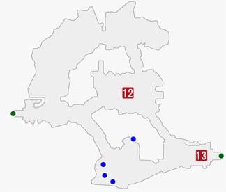 イースト・トレクールでデル・スール戦のマップ