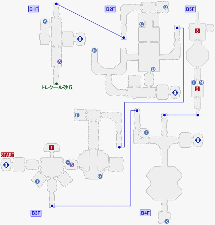 スターオーシャン5:クロノス中央紋章研究所(再潜入)のマップ