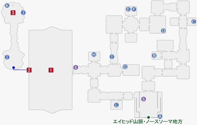 スターオーシャン5:呪印聖殿のマップ
