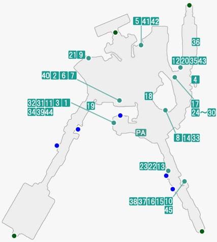中央レスリアで発生するプライベートアクションのマップ