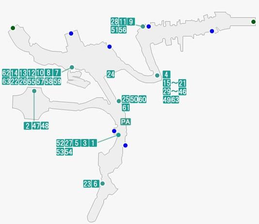 スタール村で発生するプライベートアクションのマップ