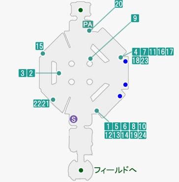 チャールズ・ディ・ゴールで発生するプライベートアクションのマップ