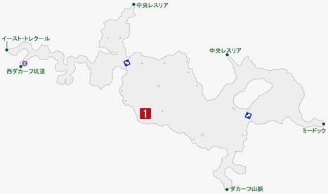 沸血のデックの居場所のマップ