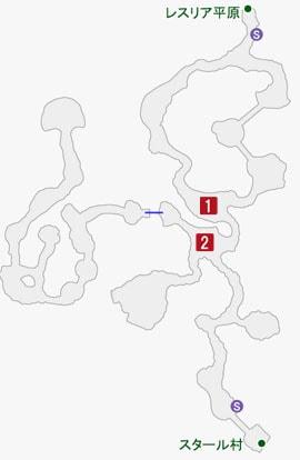 双牙のガルガンの居場所のマップ