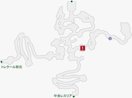 暴食のグーラの居場所のマップ