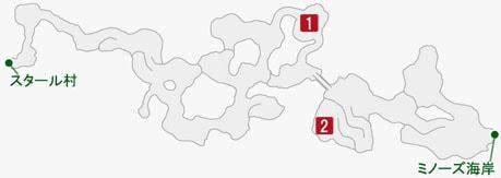 エイタロン残党幹部の居場所のマップ