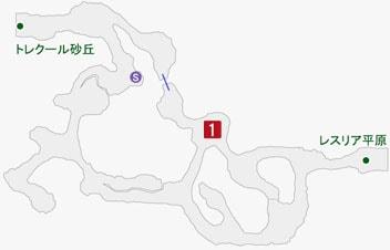 陰険なるピエールの居場所のマップ