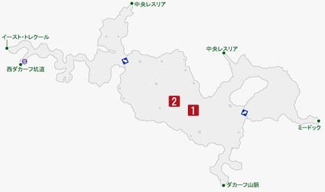 群襲のモジャンゴの居場所のマップ